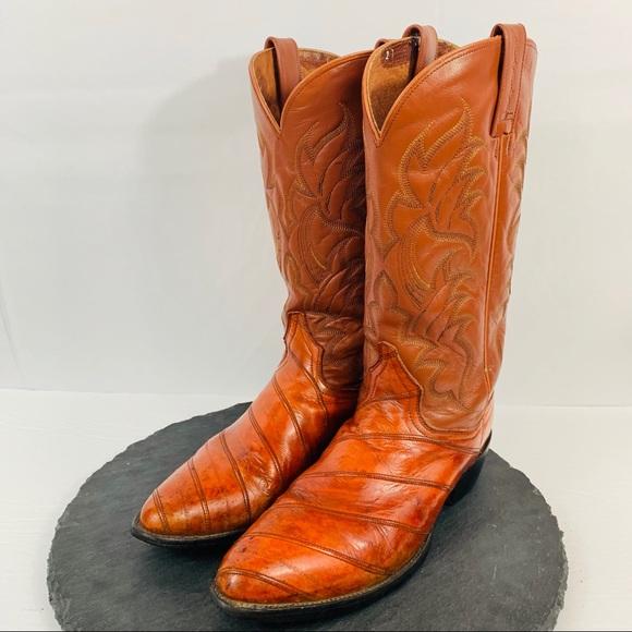 4a2f9fc425c Dan Post men's Eel Skin Boots Size 9.5D